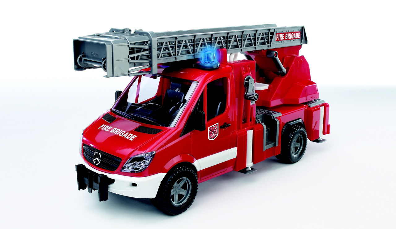 Bruder игрушка - пожарный МВ Sprinter с лестницей ( + водяная помпа + свет и звук), М1:16 02532