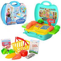 Магазин DN836D-FZ, FR, касс.аппарат, корзинка, продукты, 23 предм, в чемодане, 25-21, 5-9, 5 см