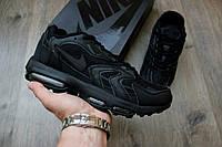Мужские осенние кроссовки Nike Air Max 96 XX Full black (Топ качество, найк, реплика)
