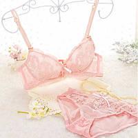 Комплект нижньої білизни 75B (34B) pink зі знімним push up, фото 1
