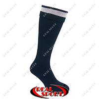 Гетры футбольные FB020124 (носок-махра, х-б, верх-нейлон, р-р 40-45, темно-синий)