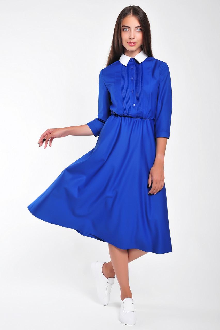 Модное женское платье с рубашечным верхом