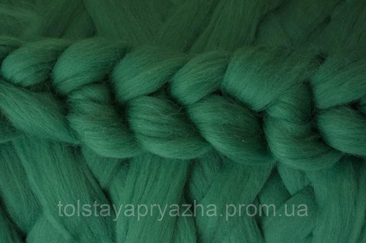 Вовна для пледа (товста пряжа) серія Крос, колір зелень