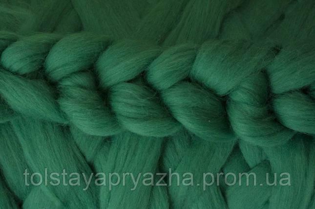 Вовна для пледа (товста пряжа) серія Крос, колір зелень, фото 2