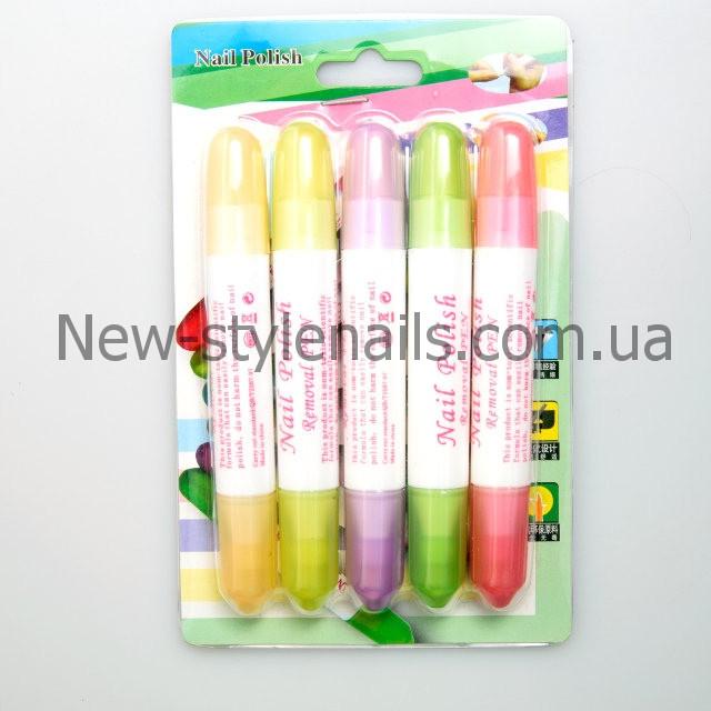 Корректор-карандаш для лака, набор 5 шт