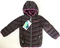 Демисезонная куртка для девочки NANO F17 M 1250 Black Print. Размер 104.