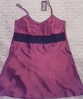 Сорочка атласная цвет бордовый