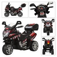 Мотоцикл M 0565  мот12W,акк6V/4A,3км/ч,до 20кг,3-6лет,черн,82-34-52,5см,в кор-ке,59,5-37-35,5см