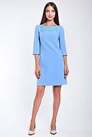 Нарядное платье с гипюровой аппликацией