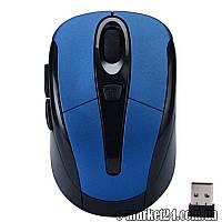 Беспроводная мышь+usb reciver, 6-кн, HZQ60406246, blue, art001030