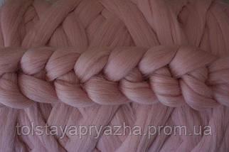 Шерсть для пледа (толстая пряжа) серия Кросс, цвет закат, фото 3