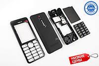 Качественный Корпус Nokia 206 Чёрный Комплект