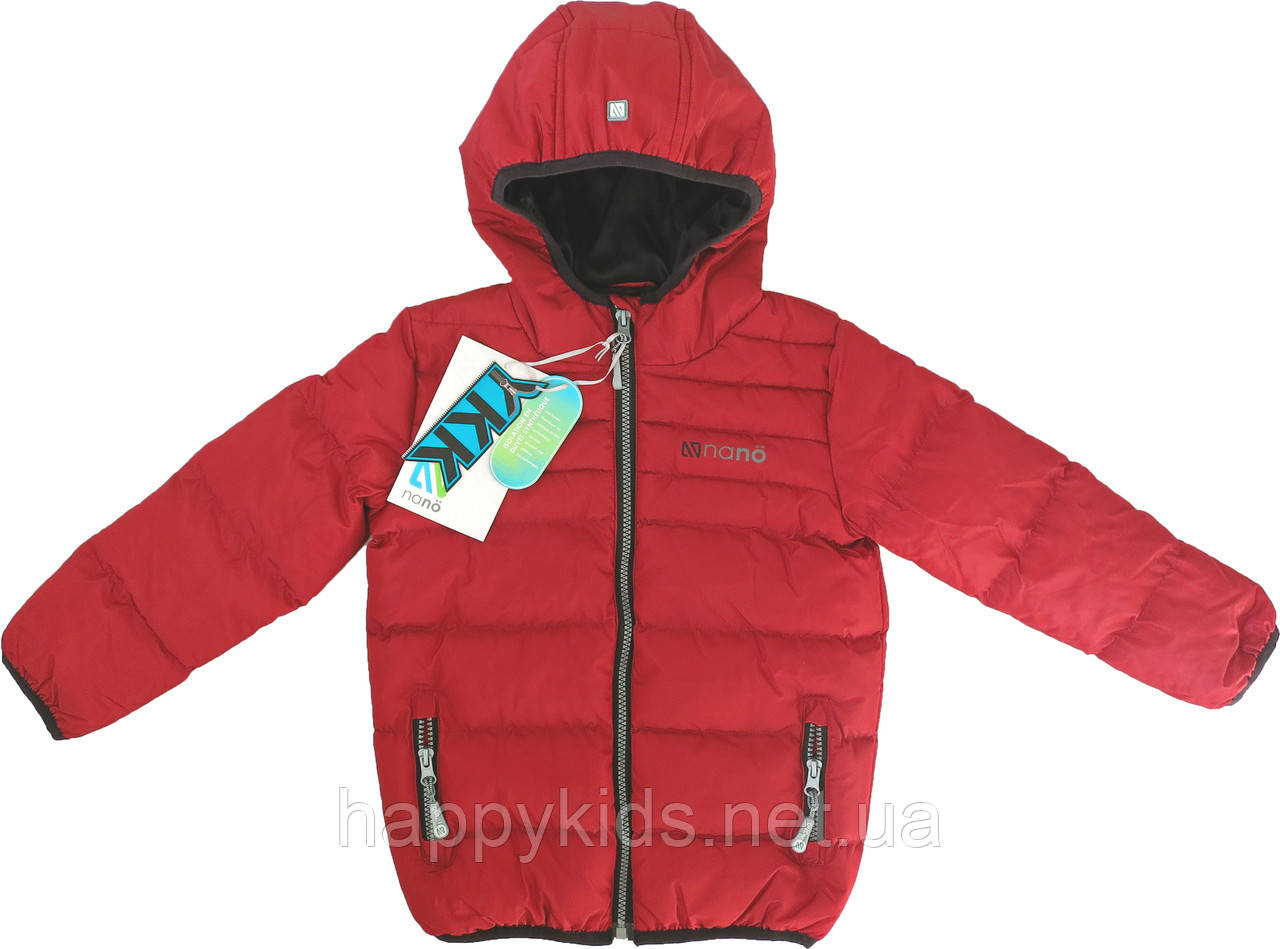 Демисезонная куртка для мальчика NANO F17 M 1251Salsa Red. Размер 152/158.