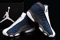 Кроссовки мужские баскетбольные Nike Air Jordan 13 Blue/White/Grey (найк эир джордан, реплика)