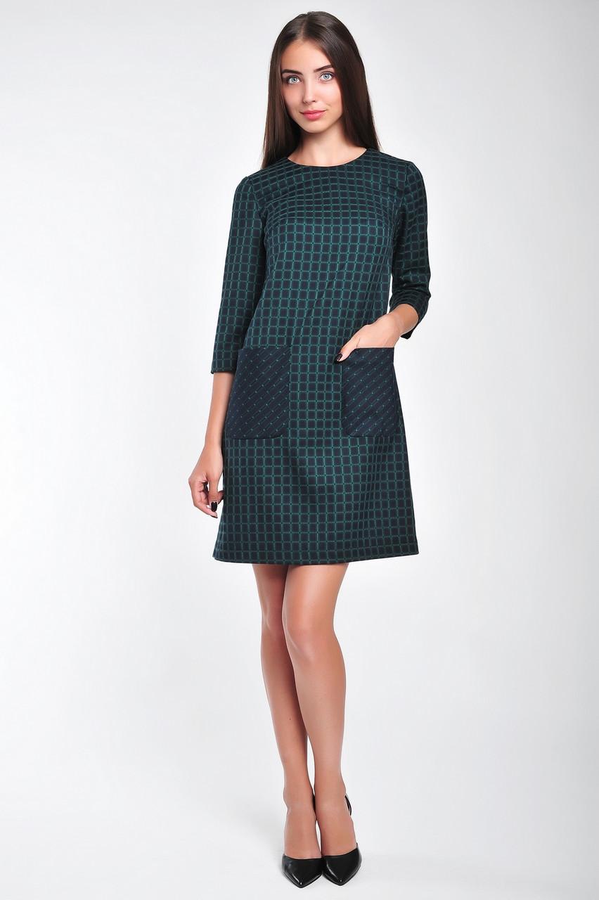c3e8a48ede3 Офисное платье короткое в клеточку - Интернет-магазин женской одежды