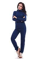 Вязаный женский костюм RUBY электрик ТМ FashionUp 42-46 размеры
