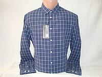 Мужская льняная рубашка в клетку с длинным рукавом Piazza Italia