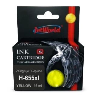 Картридж JetWorld HP 655 XL Yellow Deskjet Ink Advantage 3525, 4615, 4625, 5525, 6525 (CZ112AE) 16ml