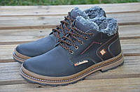 Ботинки мужские зимние Columbia Lorandi кожаные черные