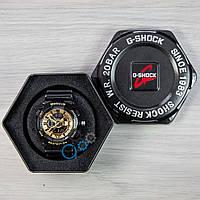 Часы женские спортивные наручные Casio Baby-G Black/Gold (реплика)