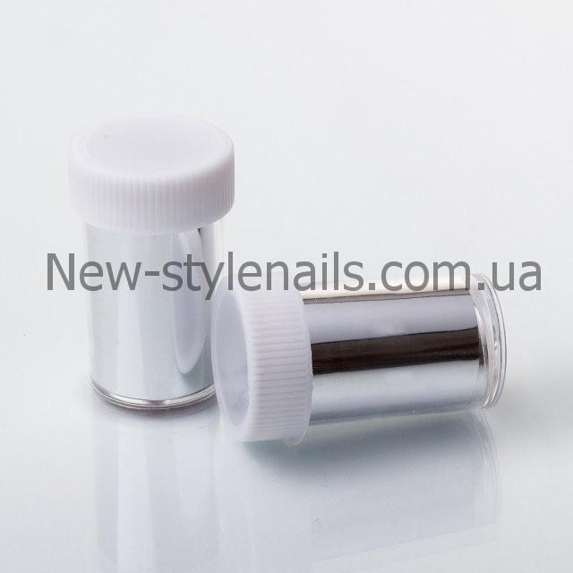 Набор переводной фольги для литья баночках,12 шт, серебро