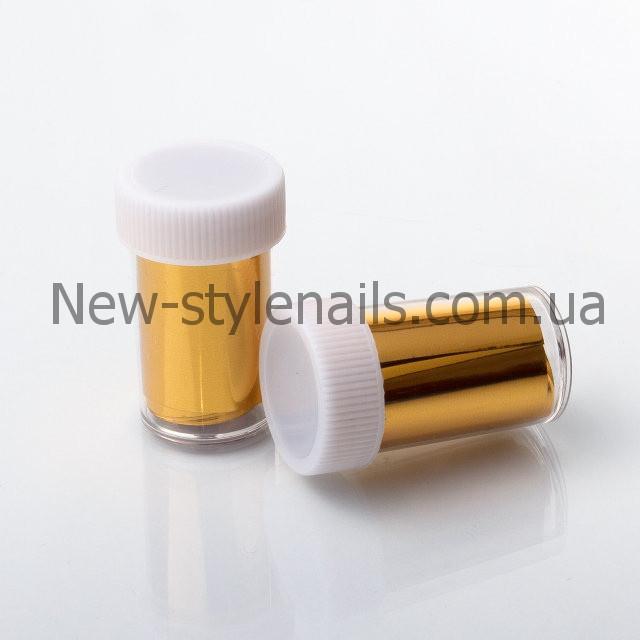 Набор переводной фольги для литья баночках,12 шт, золото
