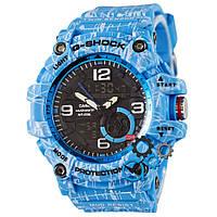 Часы мужские спортивные наручные Casio G-Shock Blue Sky (реплика)
