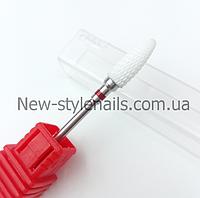 Насадка для фрезера керамическая, конус (F) красная, фото 1