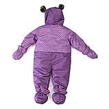 Зимний комбинезон для девочки PELUCHE & TARTINE F17M108BF Purple Wave. Размеры 6-24 мес., фото 2