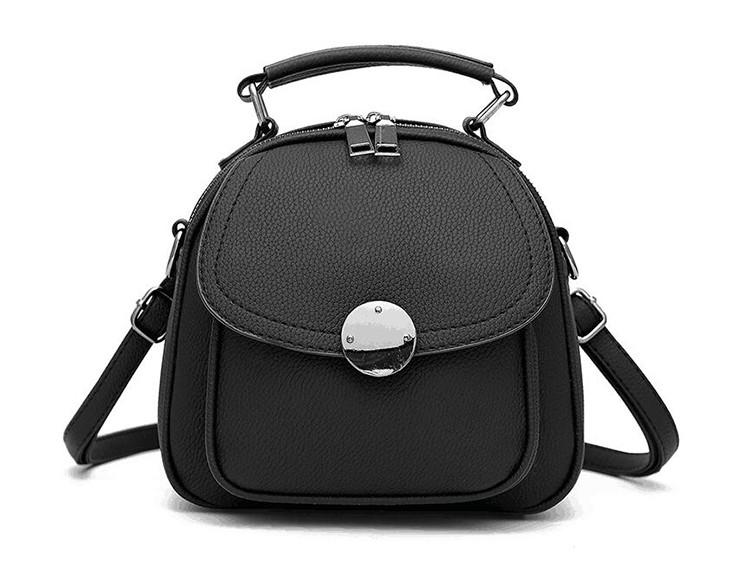 f0f74461a17a Сумка рюкзак стильная женская каркасная (черная) - Интернет-магазин «VINGO»  в