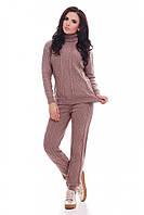Вязаный женский костюм RUBY капучино ТМ FashionUp 42-46 размеры