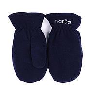 Зимние флисовые рукавицы для мальчика Nano BMITP501-F17 Navy. Размеры 12/24 мес -10/12.