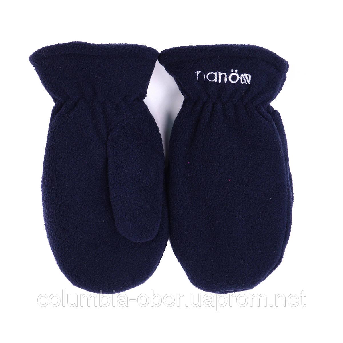 Зимние флисовые рукавицы для мальчика Nano BMITP501-F17 Navy. Размеры 5/6х-10/12.