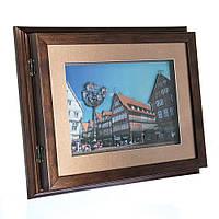 "Ключница-картина 3D ""Little town"", 32x26 см."