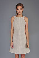 Платье-трапеция из французского жаккарда