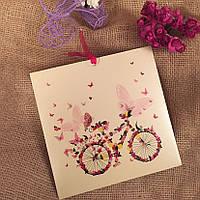 Красочные приглашения с велосипедом