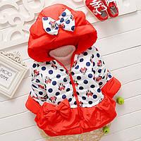 Курточка детская теплая на синтепоне для девочки