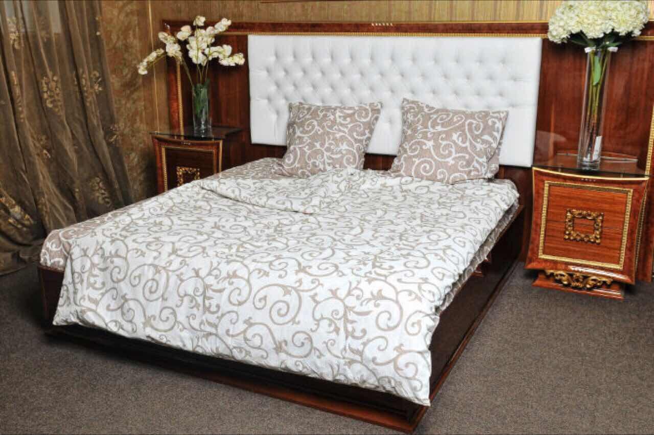 Семейное постельное белье Вензель Gold