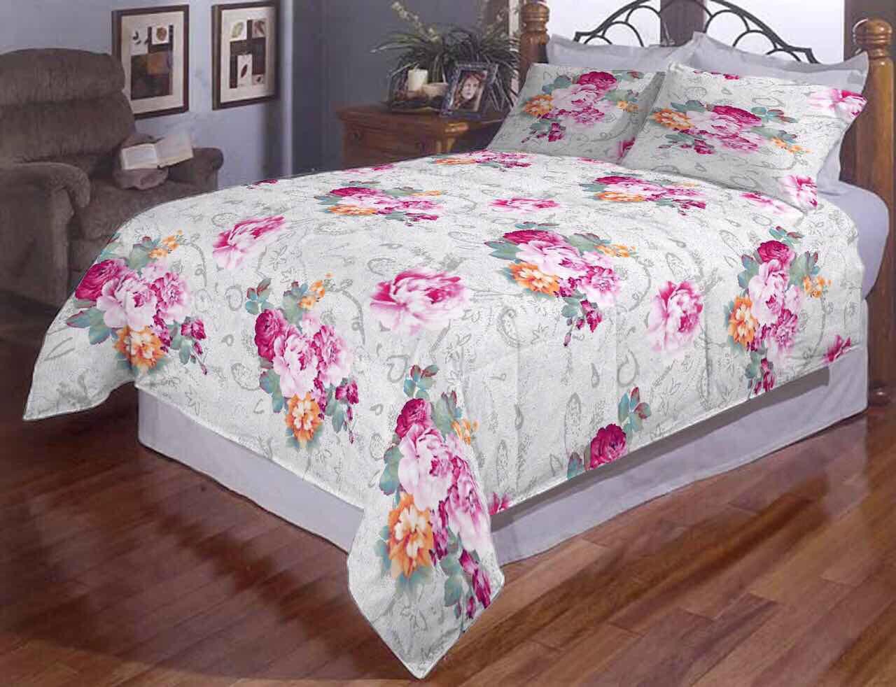 Семейное постельное белье Пион Gold