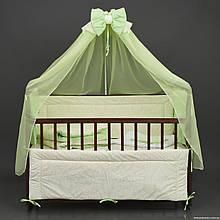 Постільний комплект в дитяче ліжечко Алінка 7 предметів