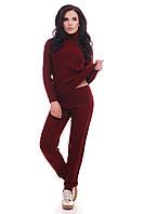 Вязаный женский костюм RUBY марсала ТМ FashionUp 42-46 размеры