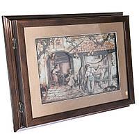 "Ключница-картина 3D ""Working yard"", 32x26 см."