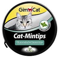 GimCat (Джимкет) CAT-MINTIPS 90табл. - Витаминизированное лакомство с кошачьей мятой для кошек