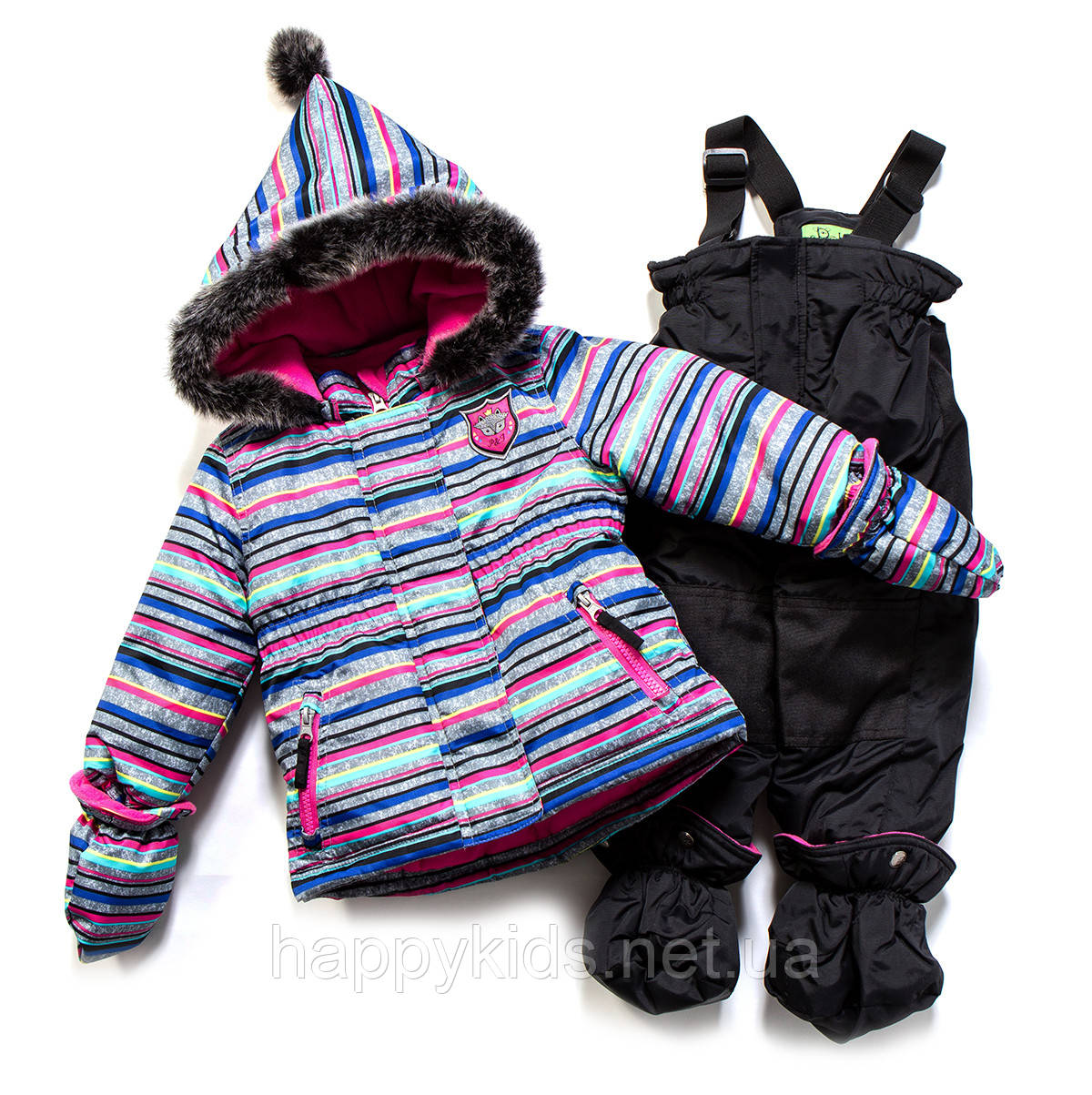 Зимний костюм для девочки PELUCHE F17 M 14 BF Lipstick / Black. Размеры 75 - 97.