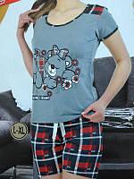 Пижама яркая женская ТМ Night Angel. Турция. Домашний комплект: футболка+шорты, размеры разные. Разные цвета.