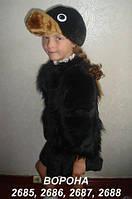 Карнавальный (новогодний) костюм Ворона для девочки