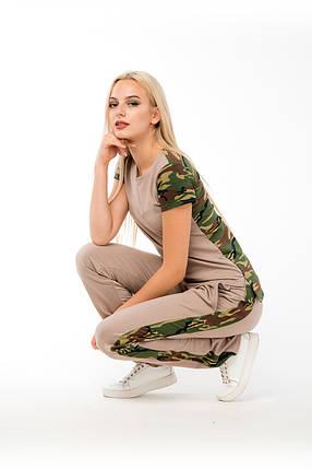 КОСТЮМ СПОРТИВНЫЙ  ~Military~ цвет бежевый, фото 2