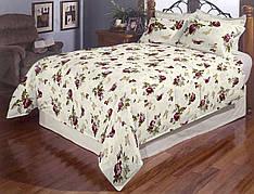 Семейное постельное белье Розы и бабочки Gold