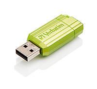 Флешка 16Gb Verbatim Store'N'Go Pin Stripe Green / 49070