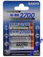Аккумуляторы Sanyo 2700Mah Япония 4 Шт.